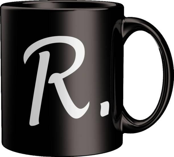 ECFAK Quotes With Alphabet: R Ceramic Coffee Mug