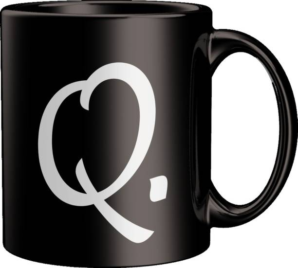 ECFAK Quotes With Alphabet: Q Ceramic Coffee Mug