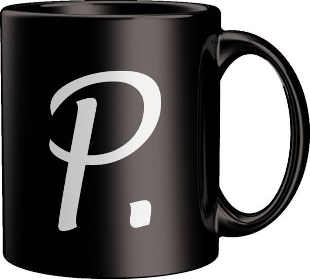 ECFAK Quotes With Alphabet: P Ceramic Coffee Mug