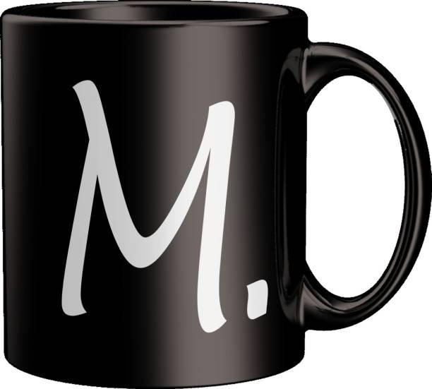 ECFAK Quotes With Alphabet: M Ceramic Coffee Mug