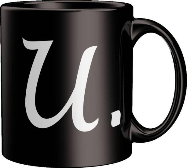 ECFAK Quotes With Alphabet: U Ceramic Coffee Mug
