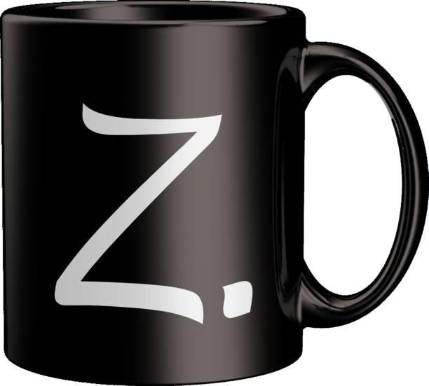 ECFAK Quotes With Alphabet: Z Ceramic Coffee Mug