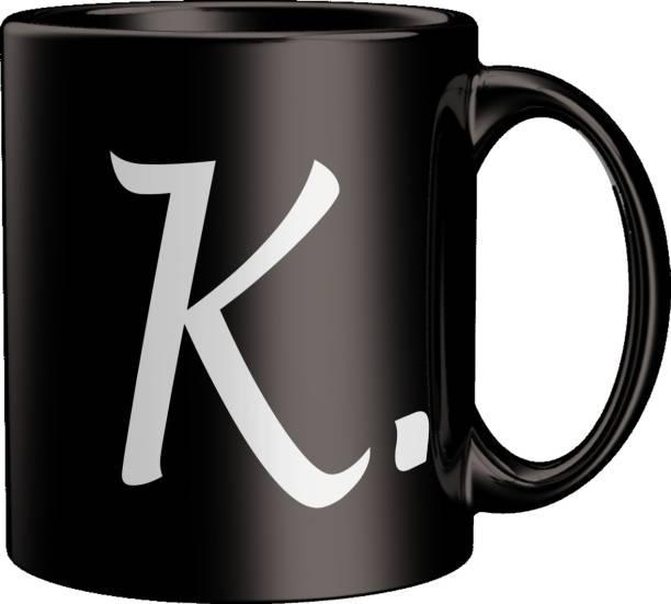 ECFAK Quotes With Alphabet: K Ceramic Coffee Mug