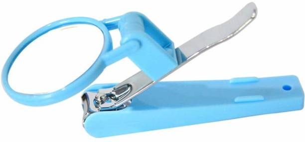 LACOPINE Folding Nail Clippers with Magnifying Glass Fingernail Magnifier Scissors Nail Cutter