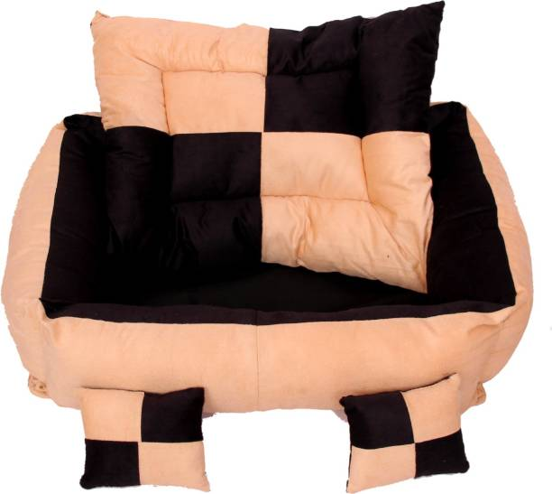 RK PRODUCTS 7 cream with black M Pet Bed