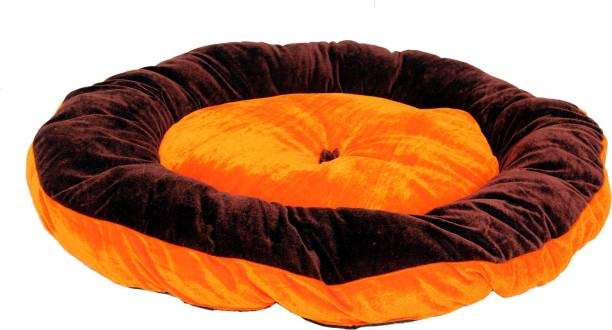 R.K Products 13 orange with brown patti S Pet Bed
