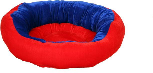 RK PRODUCTS 16 RED WITH BLUE M Pet Bed