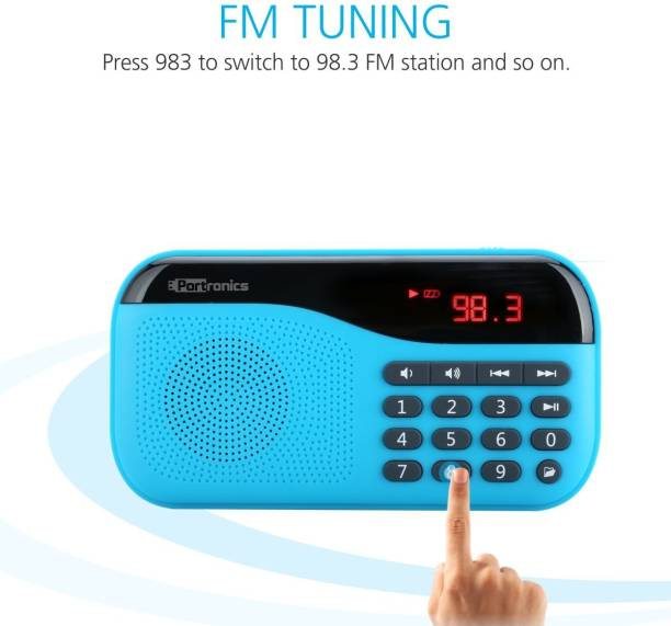 Portronics POR 142/ Plugs portable sound system with FM 2 W Portable Mobile/Tablet Speaker