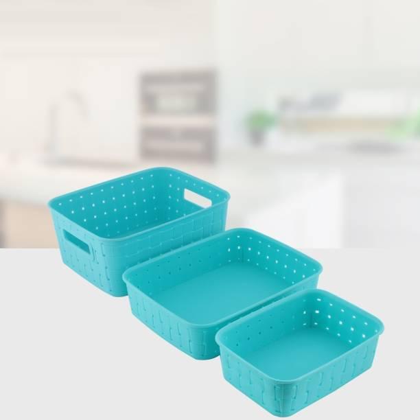 Chefstar Smart Baskets for Storage Set of 3 Pieces,Sky Blue Storage Basket