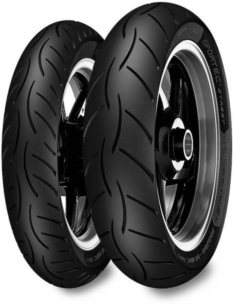 Metzeler SPORTEC STREET 110/70 R 17 M/C 54H TL & 150/60 R 17 M/C 66H TL Front & Rear Tyre