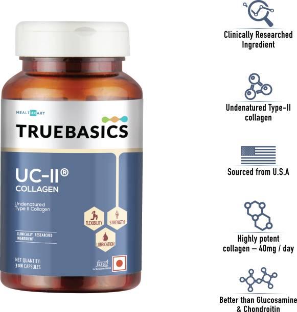 TrueBasics UC-II Undenatured Typ II Collagen, 40mg