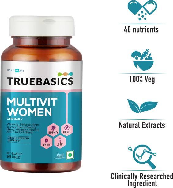 TrueBasics Multivit Women One Daily, Multivitamins,