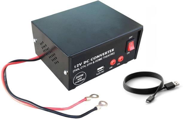 ERH India 200 Watt USB 12v DC to AC Converter for Multiple Applications Worldwide Adaptor
