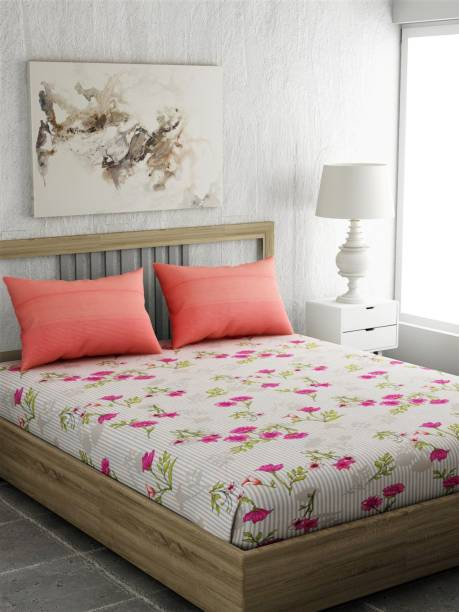 PORTICO NEW YORK 144 TC Cotton Double Printed Bedsheet