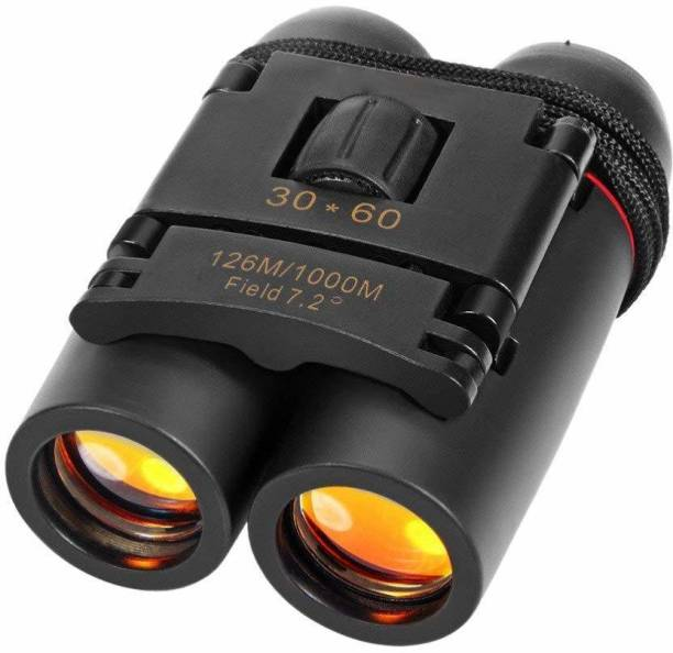 rujave 30x60 Waterproof/Fog-Proof Binoculars for Adults Compact | HD Professional Portable Mini Binocular for Long Distance for Kids, Adult Bird Watching Travel Sightseeing Hunting Wildlife.Foldable With Strap & Pouch Outdoor Binoculars (Assorted Color). Binoculars