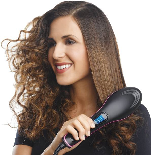 Jeval Hair Straightener Hair Straightening Comb Brush Ceramic Straight Electronic Hair Straightener with Brush Hair Straightener