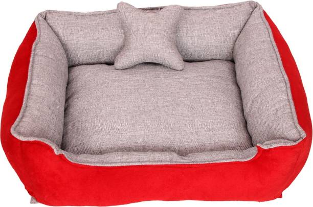R.K Products DC GREY RED_M M Pet Bed