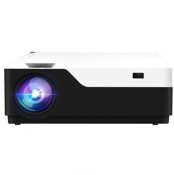 AUN M18 Full HD Projector 5500 Lumens projector full hd 4k support for Multimedia Home Theater Support AC3 Basic Projector for TV Stick, laptop, HDMI, USB, AV, OTT 5500 lm LED Corded Portable Projector