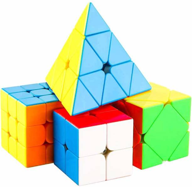 AGAMI Ultra Smooth Stickerless 2X2, 3X3, TRIANGLE PYRAMID and SKEWB Cube Rubix Puzzle 3D Cube