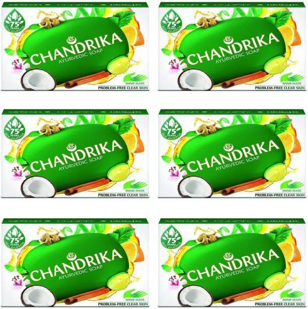 CHANDRIKA Ayurvedic soap 125 gm (pack of 6)