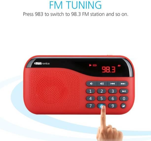 Portronics �POR 143/Plugs portable sound system with FM 2.5 W Portable Mobile/Tablet Speaker
