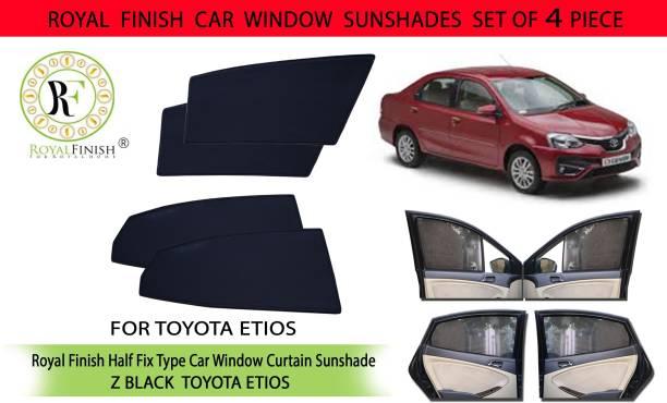 ROYAL FINISH Rear Window, Side Window Sun Shade For Toyota Etios