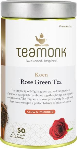 Teamonk Koen Rose Green Tea Tin