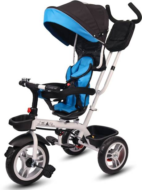 Little Olive Roller Coaster Premium Baby Tricycle / Kids Trike / Ride On Stylish Tricycle with Canopy and Push Bar for Kids / Baby Tricycle