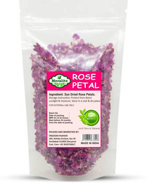 Meralite Premium Sun Dried Rose Petals (Gulab Patti)