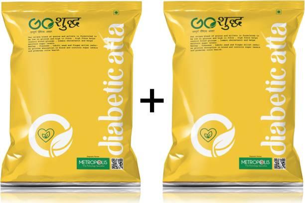 Goshudh Premium Quality Diabetic Atta Combo Pack of 2(1 Kg)