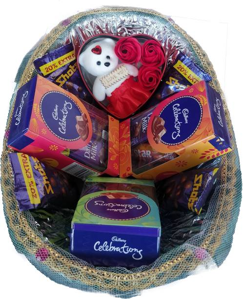 Cadbury Multi Premium Chocolate Gift Hamper Basket Combo