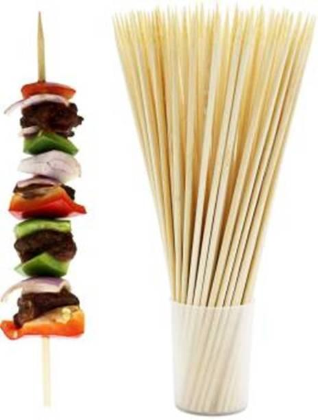 CNM Bamboo Skewers Disposable Wooden Fork Set Disposable Wooden Roast Fork, Dessert Fork, Salad Fork, Fruit Fork Set