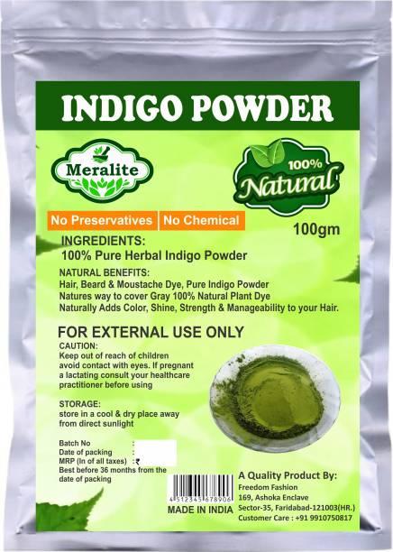 Meralite Pure Organic 100% Natural Indigo Powder For Hair Color