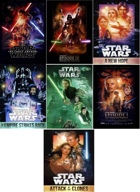 Star Wars ( 7 Movies name see in Description ) Dual Audio Hindi and English clear HD print clear voice (it's durn DATA DVD play only in computer or laptop) it not original without poster