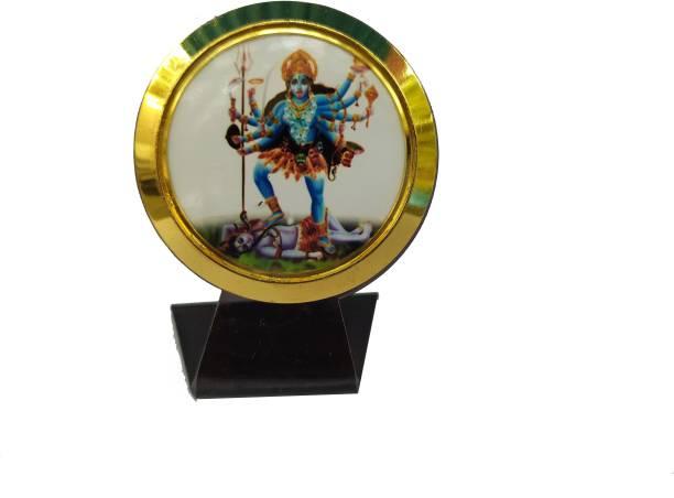Gwals Hindu Goddess Maa Kali Temple Frame For Car Dashboard Decorative Showpiece  -  6 cm