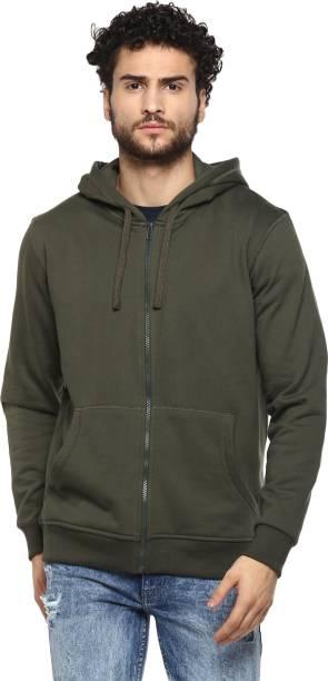 Alan Jones Full Sleeve Solid Men Sweatshirt