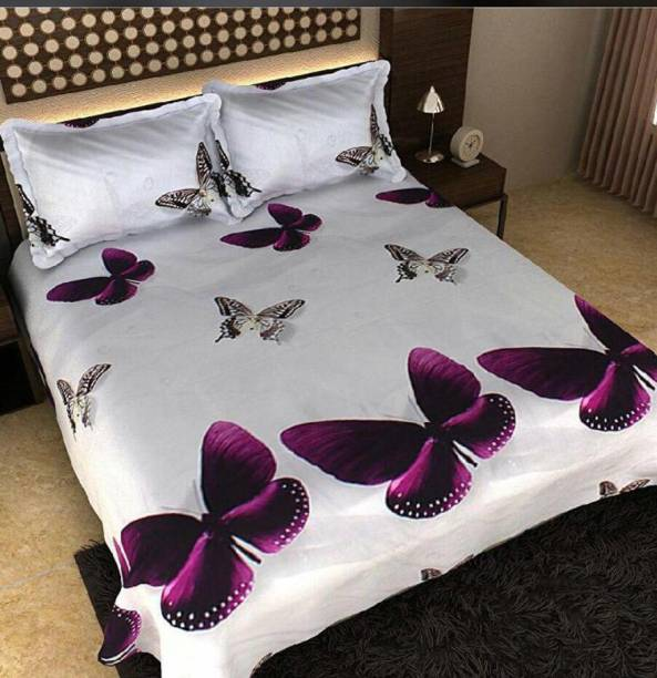 FreeHomeStyle 200 TC Cotton Double 3D Printed Bedsheet