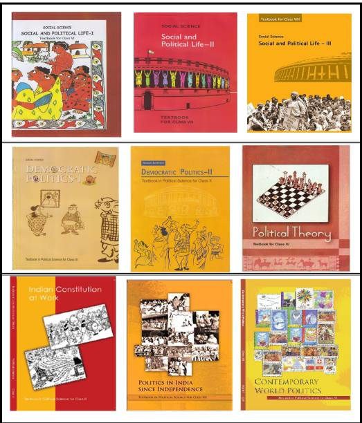 NCERT Political Science Textbook Combo Set VI-XII – 9 Booklets (English Medium)