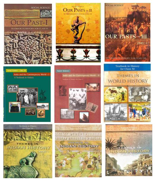 """"""" New NCERT Textbook History Combo Set 6th To 12th English Medium (9 Booklets)"""""""