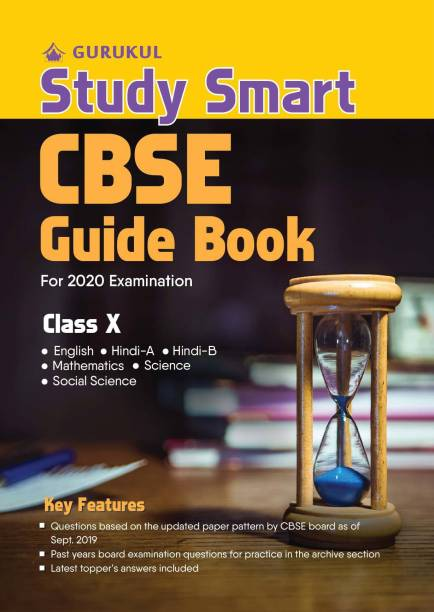 Study Smart Guide Book: CBSE Class 10 for 2020 Examination