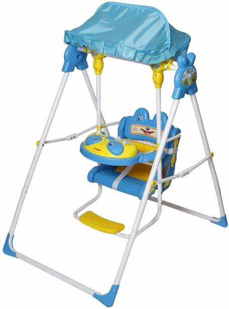 NHR Baby Swing With Lights & Music Blue Plastic, Iron Hammock