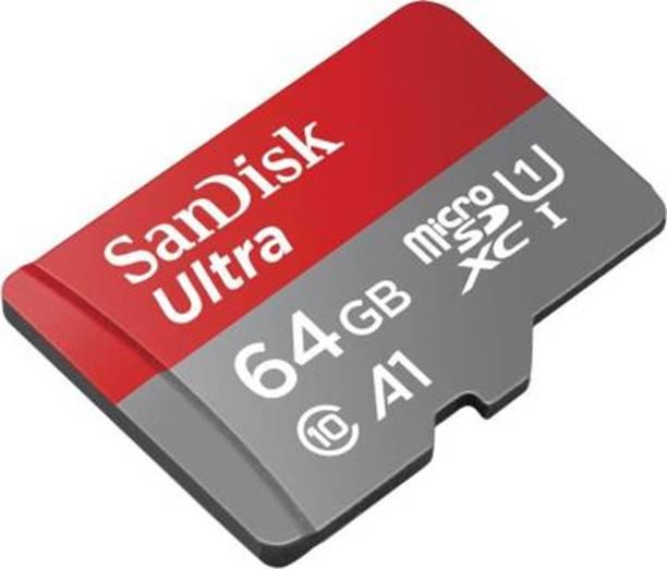 SanDisk ULTRA 64 GB MicroSD Card Class 10 100 MB/s  Memory Card