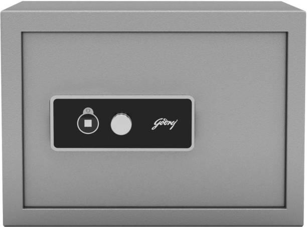 Godrej Forte Pro 15 Litres Safe Locker for Home & Office with Mechanical Key Lock - Grey Safe Locker
