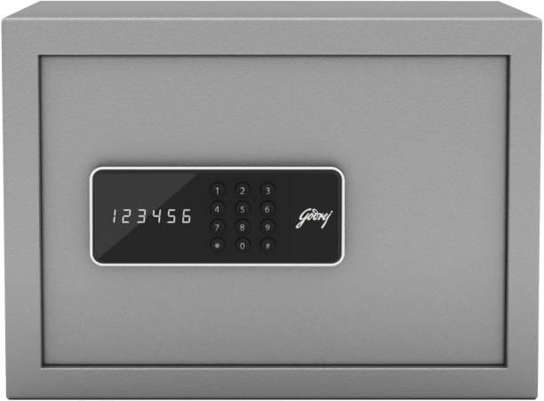 Godrej Forte Pro 15 Litres Digital Electronic Safe Locker for Home & Office with Motorized Locking Mechanism - Grey Safe Locker
