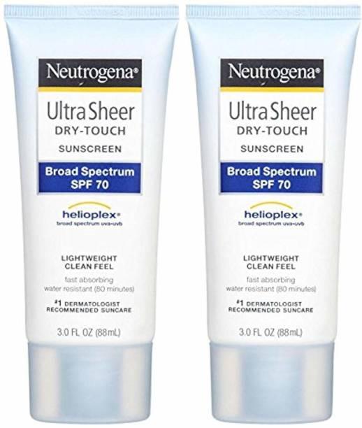 NEUTROGENA Ultra Sheer Broad Spectrum Sunscreen - SPF 70
