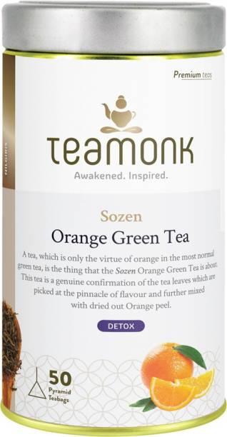 Teamonk Sozen Orange Green Tea Tin