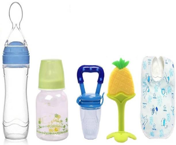 Manan Shopee Baby Feeding Starter Kit For 3 Months+ Babies- Blue