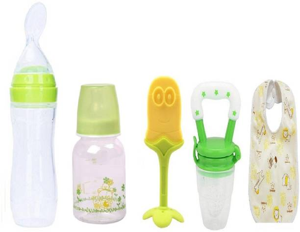 Manan Shopee Baby Feeding Starter Kit For 3 Months+ Babies- Green