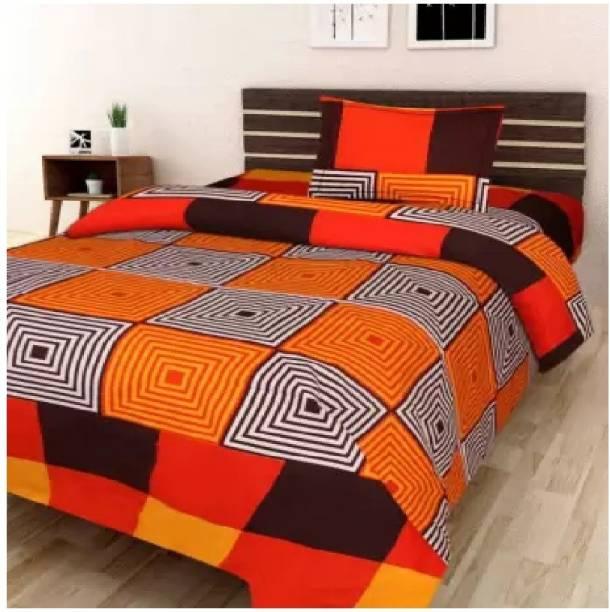 Decor Home Readiness 140 TC Polycotton Single Printed Bedsheet