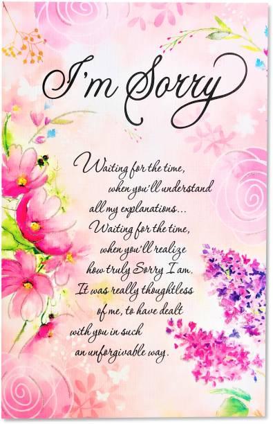 Almoda Creations Sorry Greeting Card Greeting Card